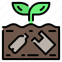ecology, ground, plastic, pollution, rubbish, soil icon