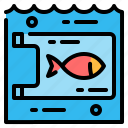 ecology, fish, plastic, pollution, waste, water icon