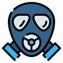 ecology, gas, mask, pollution, protection, safety, toxic icon
