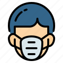 air, ecology, gas mask, mask, pollution, security icon