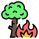 ecology, fire, forest, forest fire, natural disaster, pollution, wildfire icon