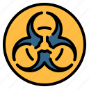 biohazard, caution, ecology, hazard, pollution, sign, toxic icon