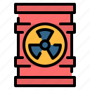 barrel, ecology, nuclear, pollution, radioactive, toxic icon