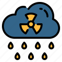 acid, ecology, nuclear, pollution, radioactive, rain icon