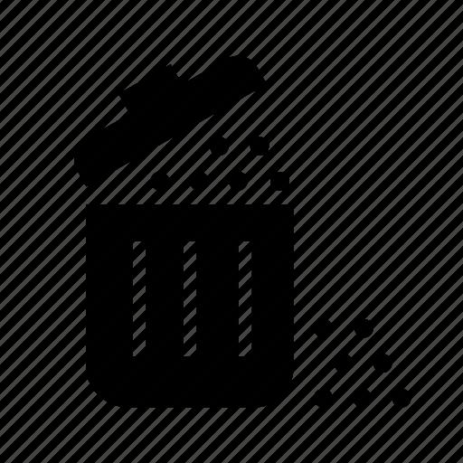 bin, garbage, trash, trash bin, waste, waste bin icon