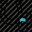polo, sport, horseshoe, ticket icon