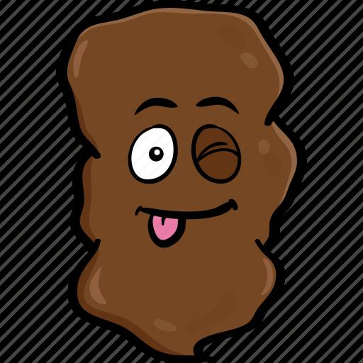 cartoon, emoji, poo, pooh, poop, smiley icon
