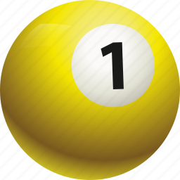 ball, ball one, billiard, pool icon