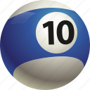 ball, ball ten, billiard, pool icon