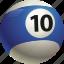 ball, ball ten, billiard, pool icon