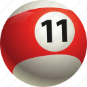 ball, ball eleven, billiard, pool icon
