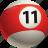 ball, ball eleven, billiard, pool icon