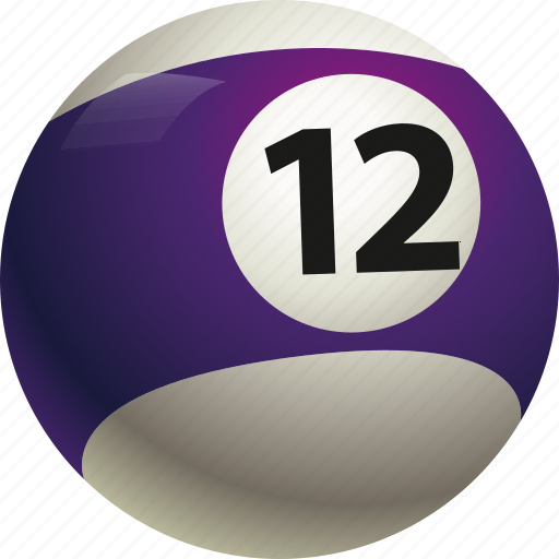 ball, ball twelve, billiard, pool icon