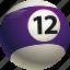 ball, ball twelve, billiard, pool icon