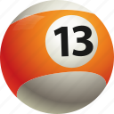 ball, ball thirteen, billiard, pool icon