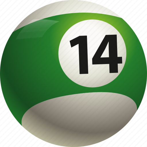 ball, ball fourteen, billiard, pool icon