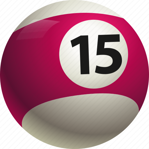 ball, ball fifteen, billiard, pool icon
