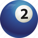ball, ball two, billiard, pool icon
