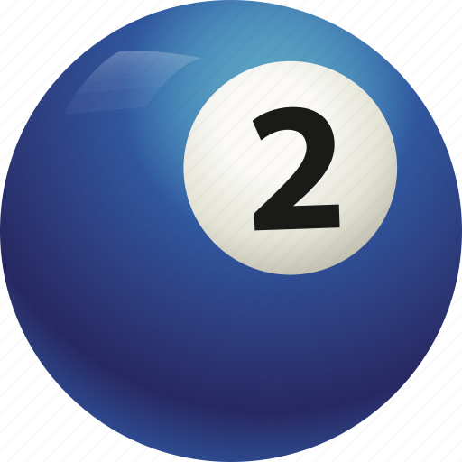 ball, ball two, billiard, pool icon