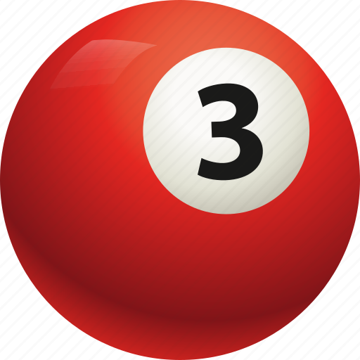 ball, ball three, billiard, pool icon