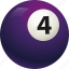 ball, ball four, billiard, pool icon
