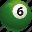 ball, ball six, billiard, pool icon