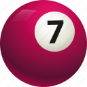 ball, ball seven, billiard, pool icon