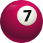 ball, ball seven, billiard, pool icon