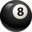 ball, ball eight, billiard, pool icon