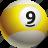 ball, ball nine, billiard, pool icon