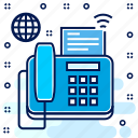 phone, technology, fax, electronic, print, machine icon
