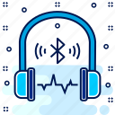 bluetooth, earphone, headphone, headphones, headset, modern icon