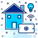 eco, environmental, friendly, home, smart icon