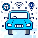 car, eco, friendly, smart, transport, transportation, vehicle icon