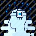 circuit, head icon