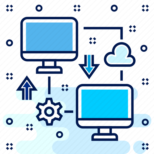 computer, connect, connection, network, share, sharing icon