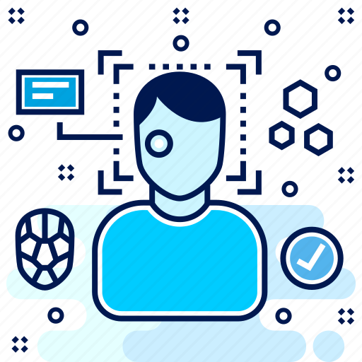 avatar, facial, recognition icon