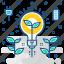bulb, eco, electricity, energy, environment, light, power icon