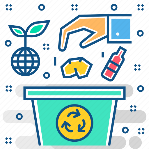 disposable, dispose, eco, ecology, energy, environment, recycling icon