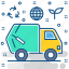 garbage, recycle, transport, trash, travel, truck icon