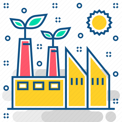 eco, ecology, energy, environment, factory, industry, nature icon