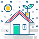 eco, environment, friendly, future, home, house, nature icon