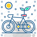 bicycle, cycle, energy, fuel, renewable, save icon