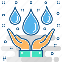 rain, recultivation, save, water, weather icon