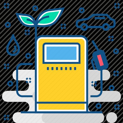 bio, eco, environment, fuel, oil, petrol, save icon