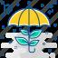 green, nature, protect, protection, rain, save icon