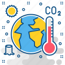 danger, environment, global, summer, temprature, warming, weather icon