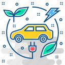 car, electric, energy, environment, friendly, green, hybrid icon