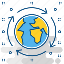 cycle, earth, environment, global, lifecycle, planet icon