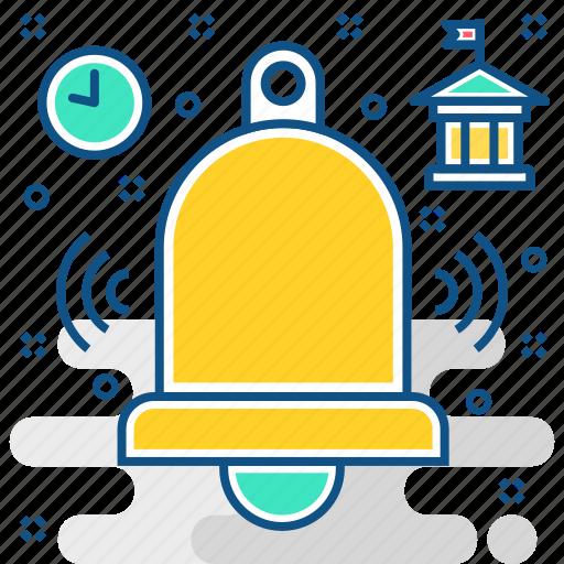 alarm, alert, bell, clock, notification, schedule icon